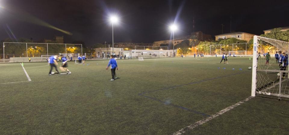 Camp de futbol malva rosa fundaci n deportiva municipal - Campo de futbol del valencia ...