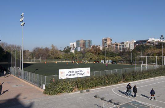 Instal·lacions Riu Turia, Camp de Futbol Pont de l'Exposició (Tram VIII)
