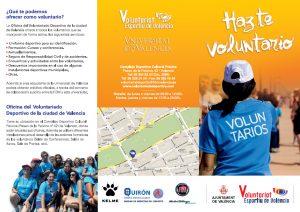 Folleto Voluntariado Deportivo de la Ciudad de Valencia