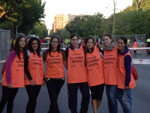 Voluntarios en la Carrera de la Salud