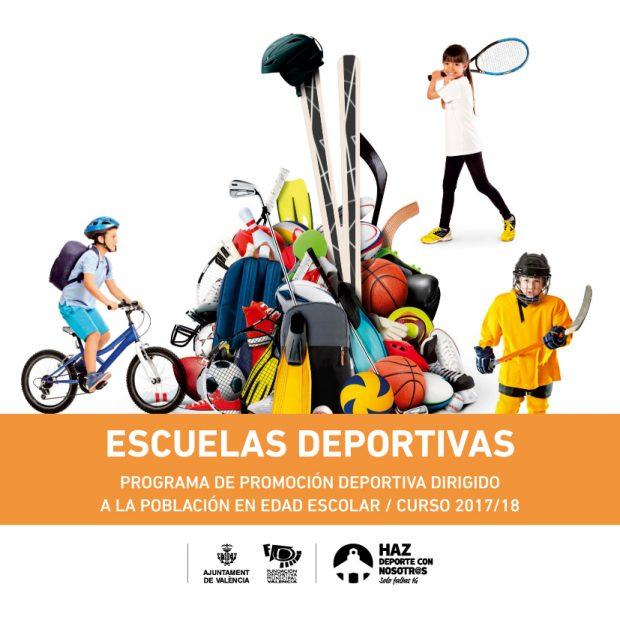Escuelas Deportivas, programa de promoción deportiva dirigido a la población en Edad Escolar curso 2017/18