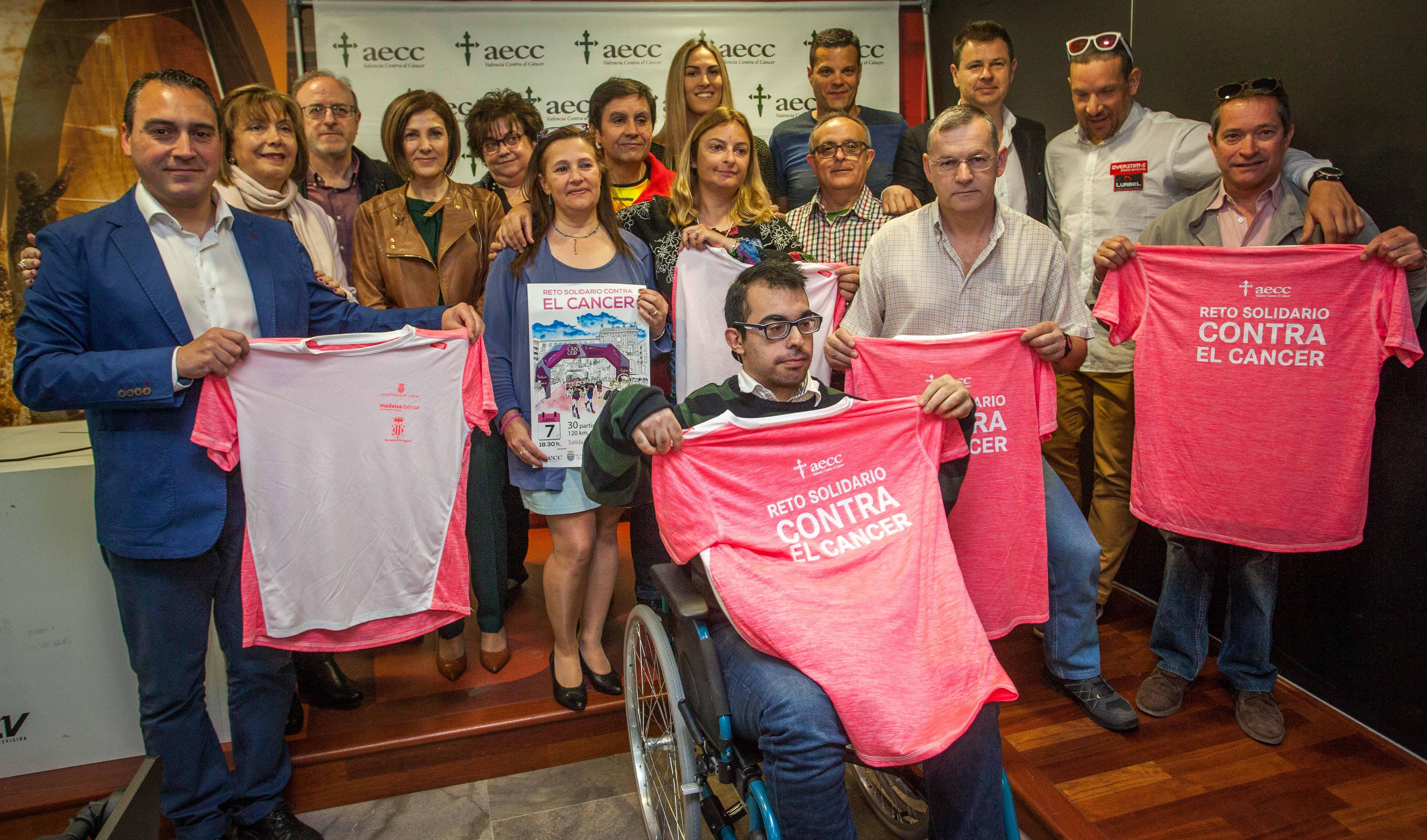 Valencia será una de las paradas de la marcha de 120 kilómetros entre Gandia y Sagunto para concienciar sobre el cáncer