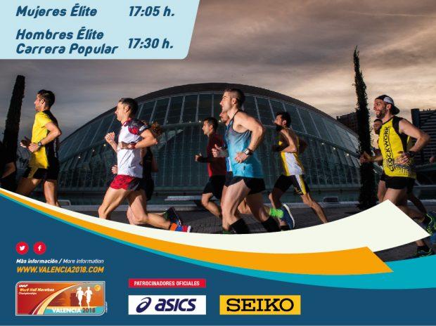 El Campeonato del Mundo de Media Maratón hace oficial su hora de salida en la Ciudad de las Ciencias
