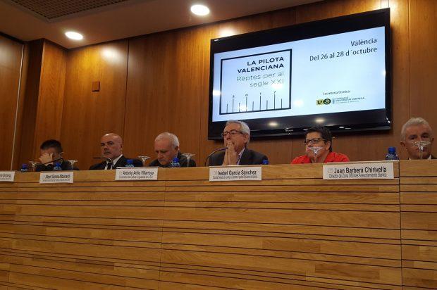 Arranca el congrés de pilota valenciana que debat els seus reptes per al segle XXI