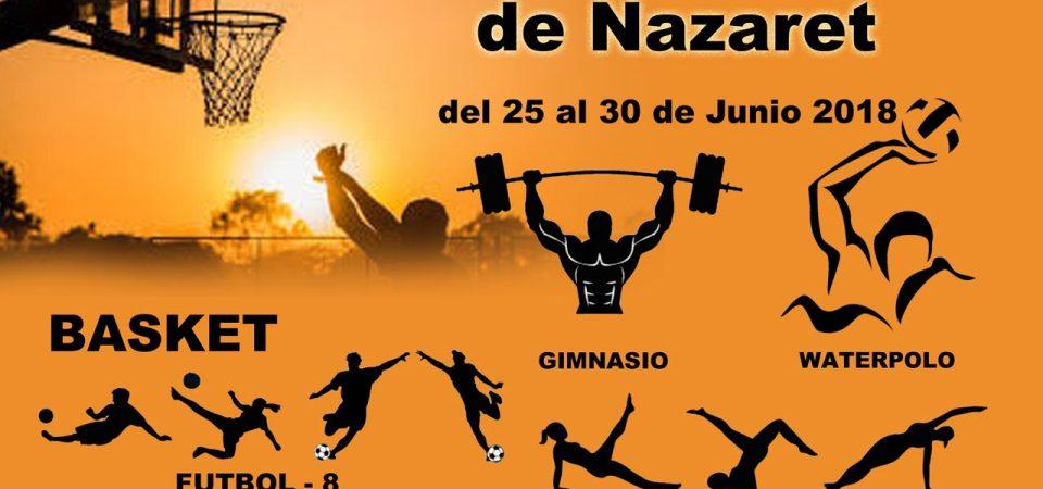 I Setmana Esportiva-Cultural del Barri de Natzaret