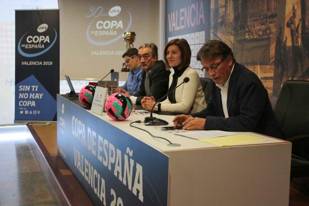 Maite Girau, Josep Miquel Moya, Javier Lozano e Isabel García durante la rueda de prensa