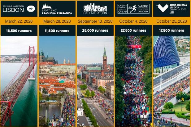 Lisboa, Praga, Copenhaguen, Cardiff i València s'alien per a promoure les seues carreres, els hàbits saludables, l'esport turístic i els valors mediambientals amb unes noves sèries per a tots els corredors