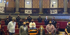 Les Abelles, recibidos en el Hemiciclo del Ayuntamiento tras ascender a la División de Honor A de rugby