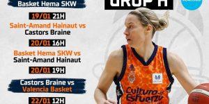 València acollirà dues fases de grups de l'Eurocup femenina del 17 al 23 de gener