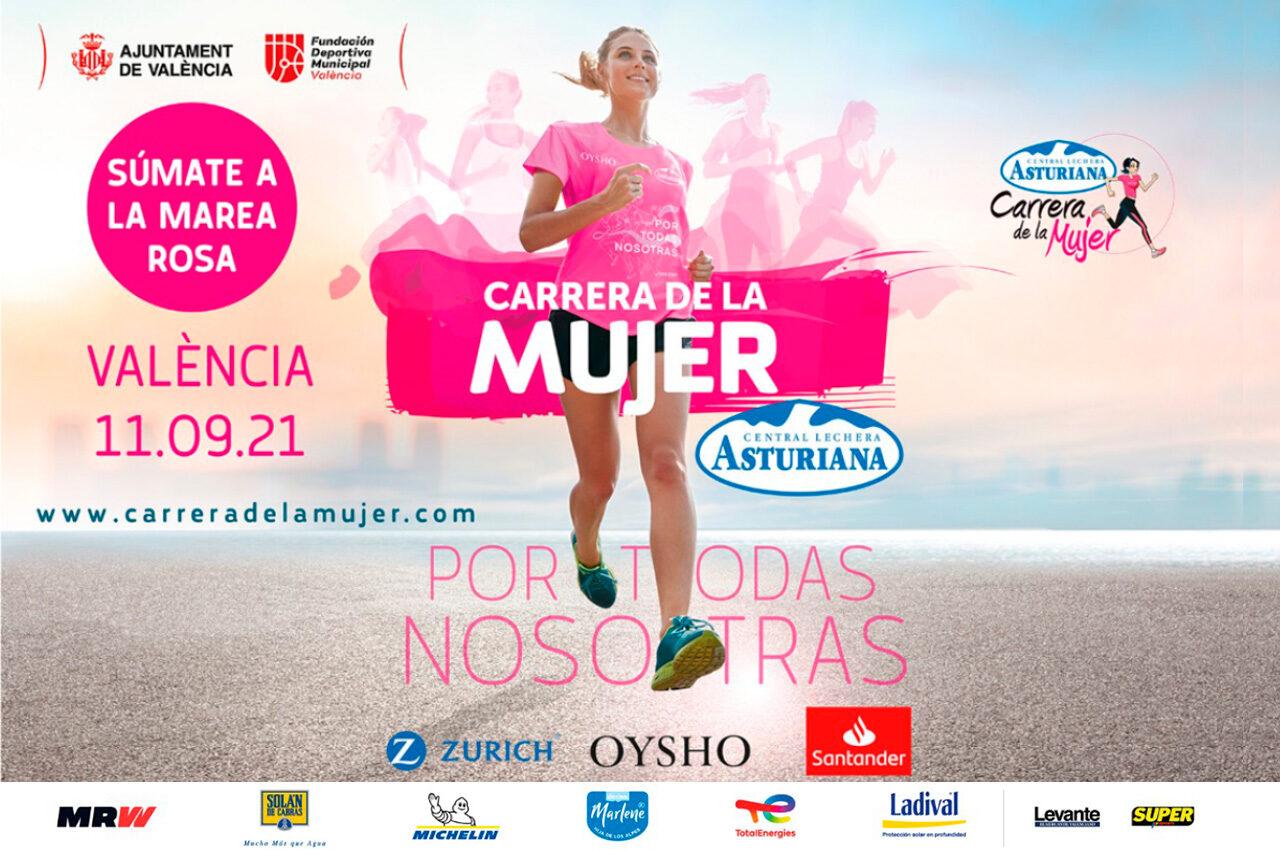 La Carrera de la Mujer vuelve a València con 4.000 corredoras contra el cáncer de mama
