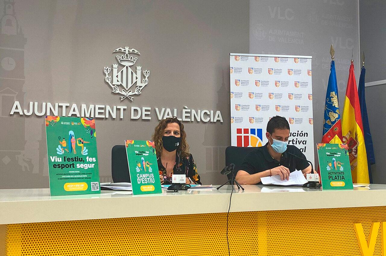 """La Fundación Deportiva Municipal presenta """"Viu l'esport, fes esport segur"""", el plan de temporada de verano"""