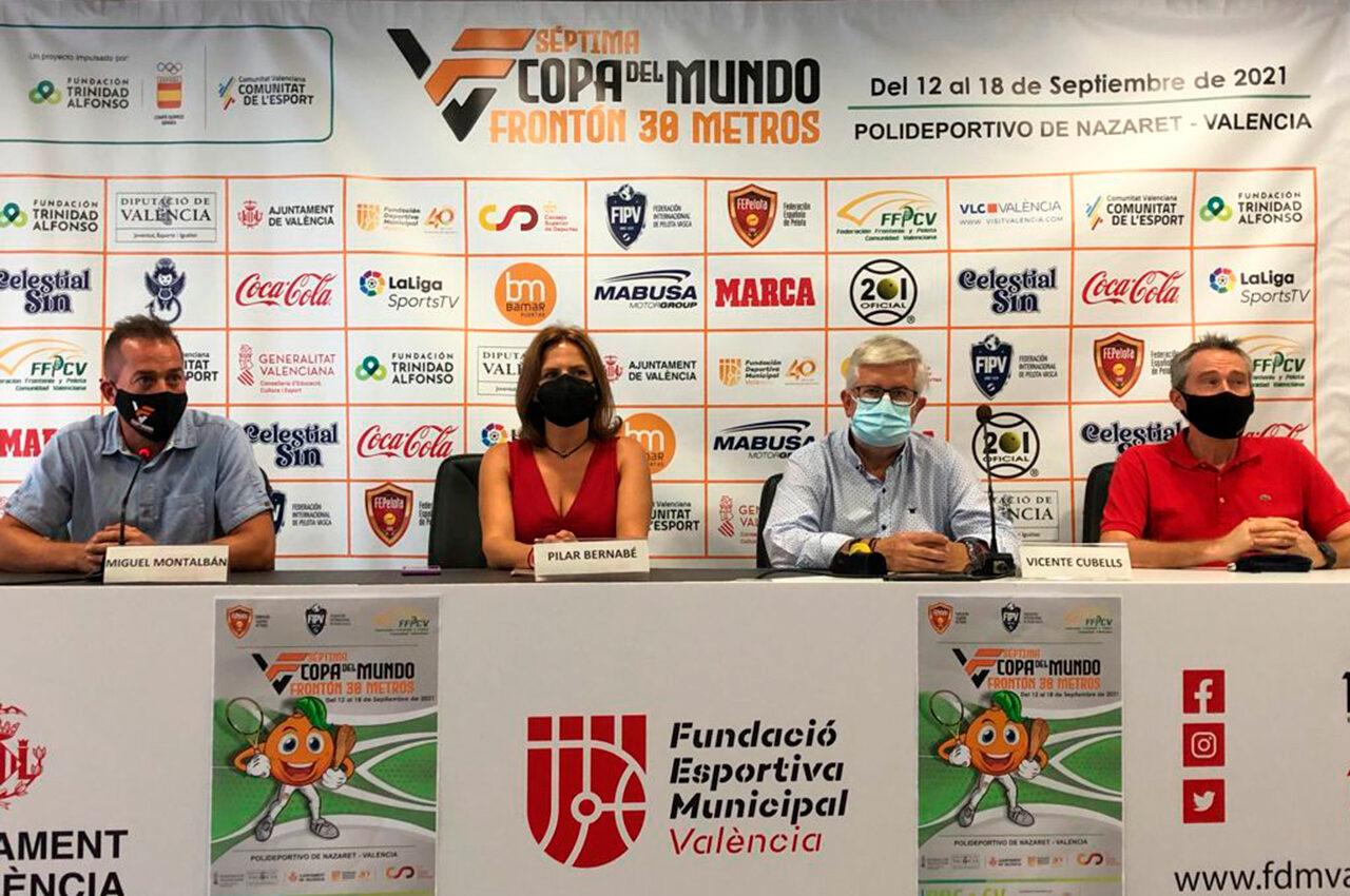 València acull la VII Copa del Món de Frontó de 30 metres
