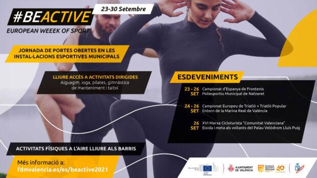 Toda la programación de la Semana Europea del Deporte en València