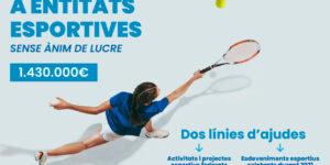 Obert el termini per a sol·licitar les ajudes i subvencions a entitats esportives sense ànim de lucre de València