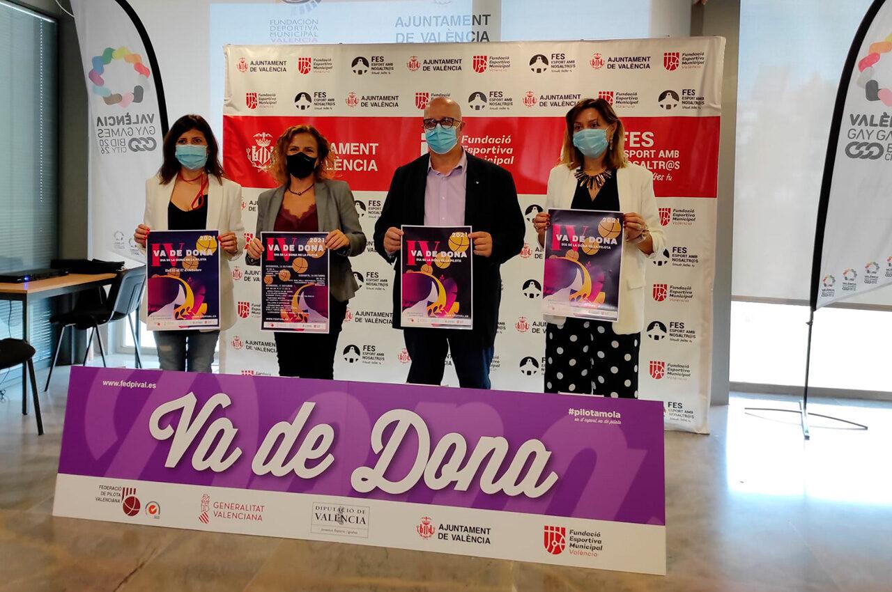 La pilota valenciana torna a celebrar el Dia de la Dona amb tallers i partides de categoria femenina. La celebració es durà a terme entre el 15 i el 17 d'octubre a València i Borbotó